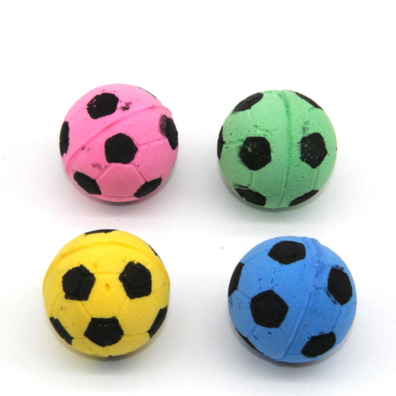 Westrice Cat Toy 4cm Soft Latex Ball Mini Playing Mouse Toys Gift For Cats Dogs Kitten So Nice Football 18 Cat Toy