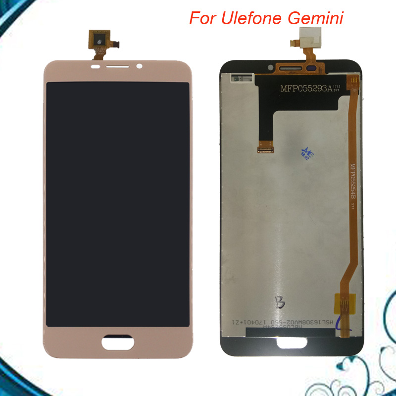 Black/Gold For 5.5 inch Ulefone Gemini LCD Display+Touch Screen 100% Tested Screen Digitizer Assembly Replacement free shipping
