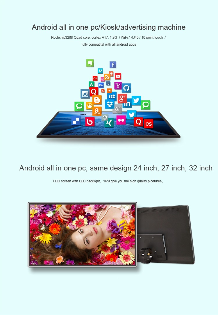 android all in one pc 24 27 32 inch