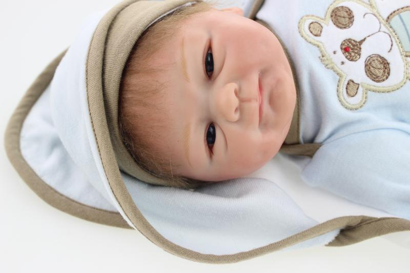 175fbe5a4f8d 45cm Reborn doll kits vinyl Reborn Baby Doll Soft Silicone Lifelike Smile  Girl Gift for Children baby dolls for sale-in Dolls from Toys & Hobbies on  ...