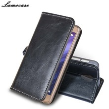 Lamocase for Alcatel POP 4 Plus Luxury Leather Case for Alcatel One Touch Pop 4 Plus 5056D 5056M Flip Cover with Wallet Slot