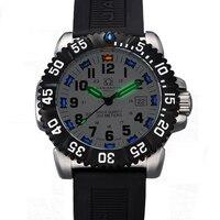 スイス H3 発光手カーニバル高級ブランドのメンズ腕時計クォーツ軍事腕時計メンズ 200 メートルダイバー防水時計 C8447 2 -