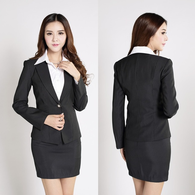 Formal Female Skirt Suits Women Buseinss Suits Work Wear Clothes
