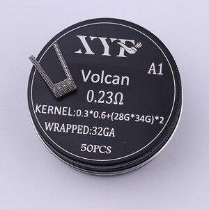 Image 5 - XYF 50 шт., катушка clapton Alien v2, нагревательная проволока для RDA RBA, ремонтная катушка атомайзера, катушка для электронной сигареты, катушка испарителя