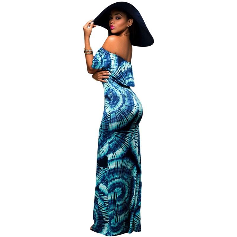 Zkess Tropical Print Dress Women Long Party Dresses 2017 Elegant Bohemia Dress Maxi Mermaid Gown Vestido de festa LC61189 16