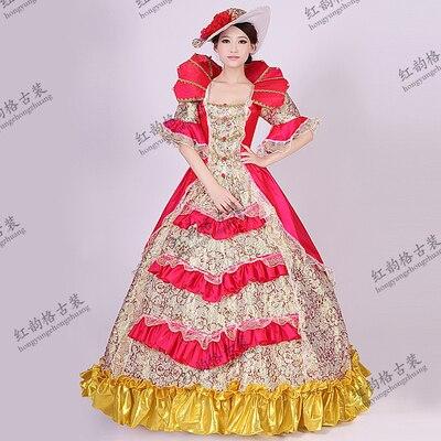 toko online wanita kerajaan royal pakaian putri kostum eropa pengadilan gaun rindu asing aliexpress