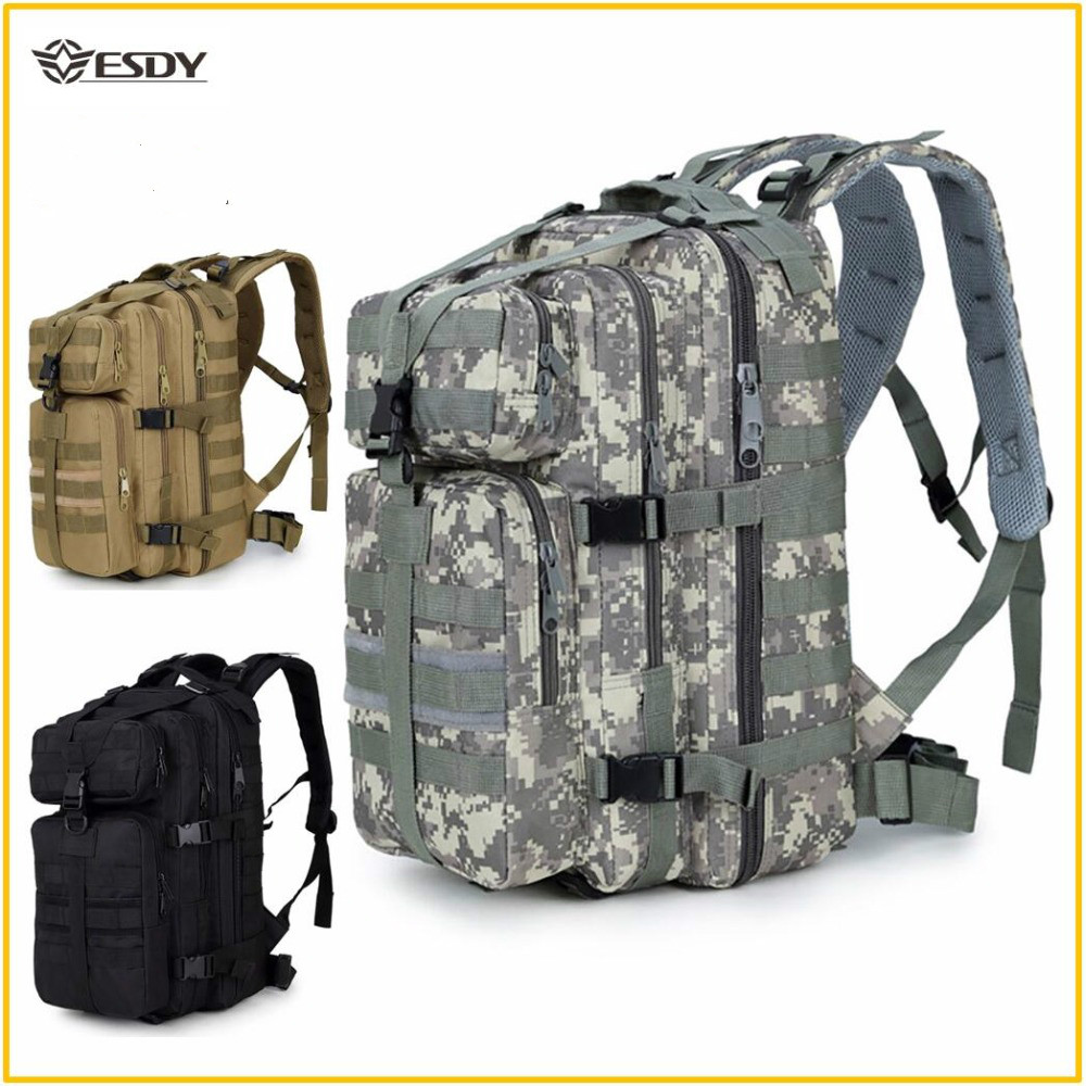 Military Tactical Backpack Assault Molle Pack  Waterproof Sling  Army Rucksack Bag for Outdoor Hiking Camping Hunting