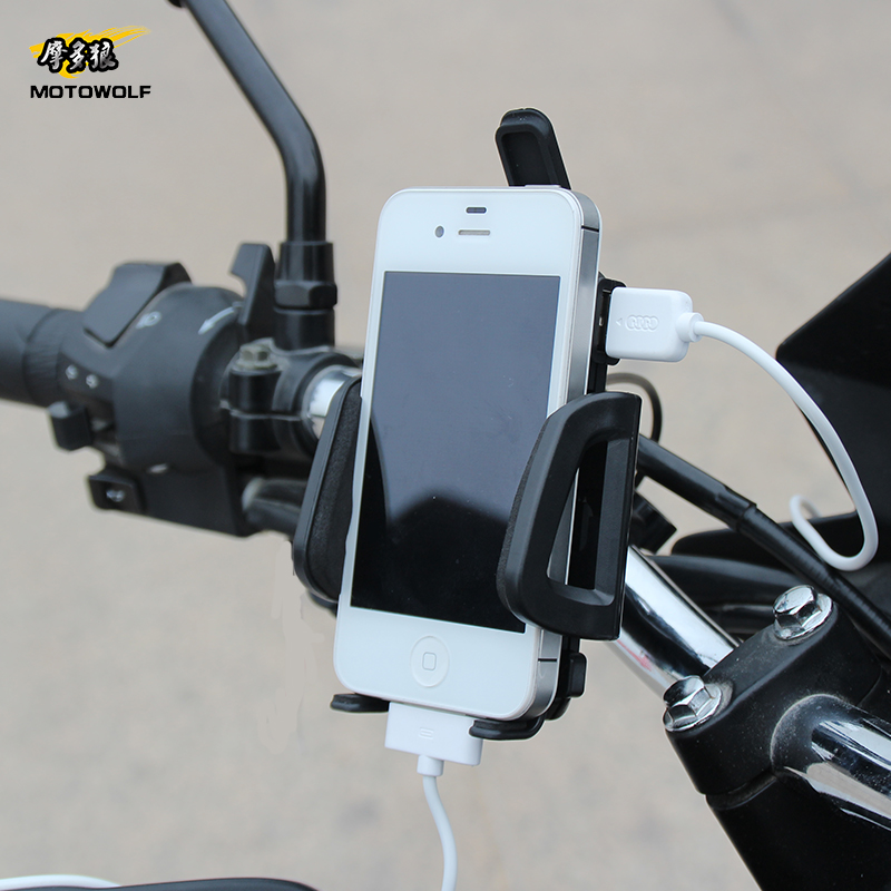 Bicycle Motorcycle Phone Holder Stand Grip Holder for Iphone Samsung Xiaomi Huawei 3.5inch to 6 inch mobile phone m09 motorcycle bicycle water resistant holder stand for iphone 4 4s black