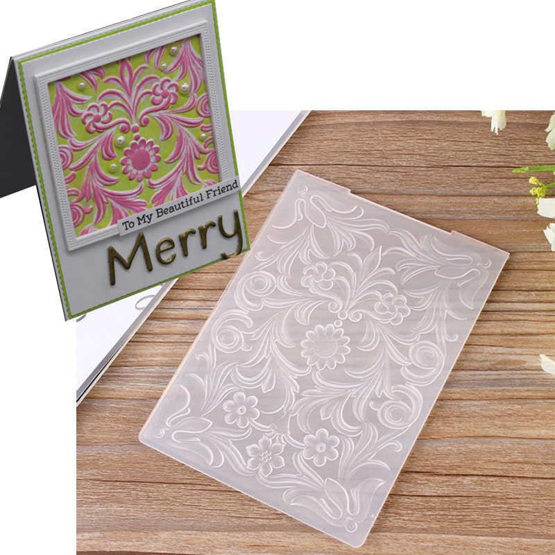 3d Flowers Leaves Embossing Templates Diy Design Paper Cutting Dies Scrapbooking Plastic Embossing Folders Card Making Stamps
