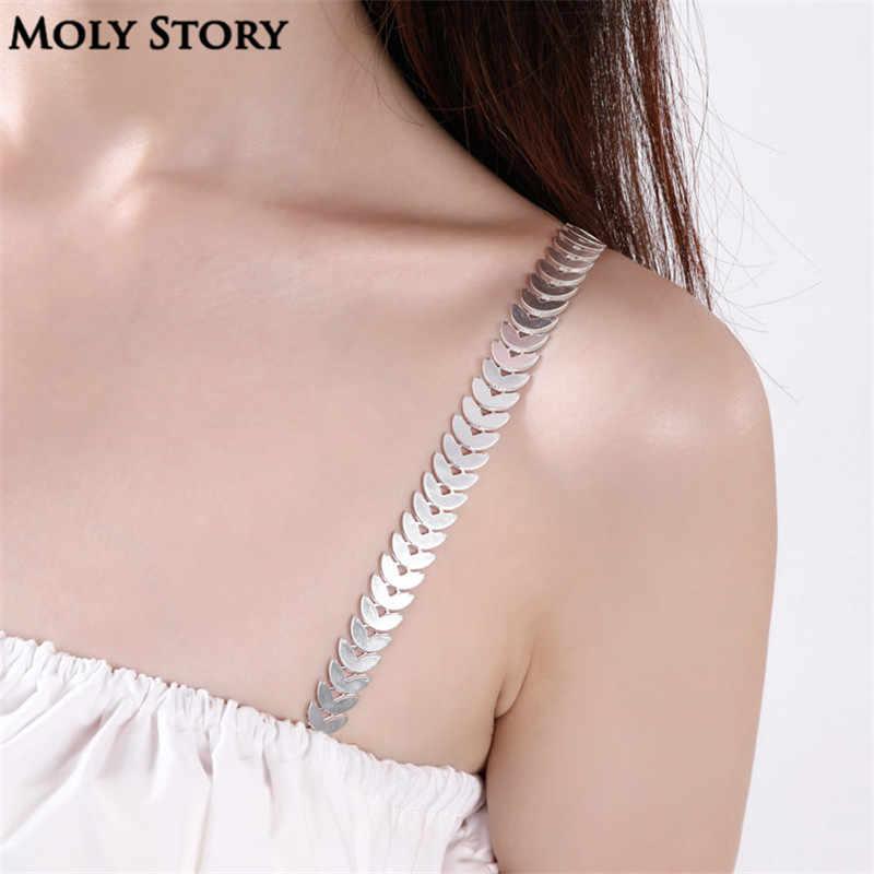Women Intimate Bra Accessories Rhinestone Bra Shoulder Straps Jewelry Replacement Underwear Belt,Style 18