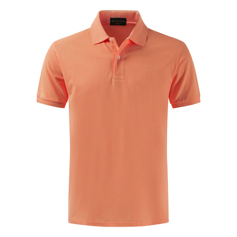 High quality 100% cotton simple   polo   shirt with short sleeve lapel men's summer plain and large size   polo   shirt