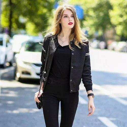 Womens black fashion jacket 49