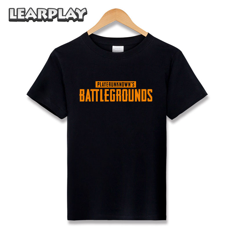 PUBG Tee Shirt PLAYERUNKNOWN'S BATTLEGROUND Cotton Short Sleeve T-shirt Basic Tee Cosplay Costumes Basic Tops Men Women