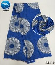LIULANZHI african satin fabrics 2018 New dyed ankara fabric for women dress 5yards/piece french NLL01-NLL19