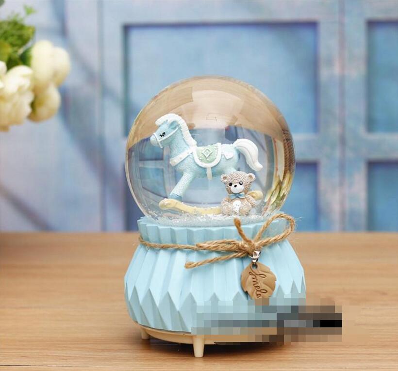 MXP+++714 Cartoon Trojan, deer, crystal ball, spinning, snowflake, lantern, music box, creative ornament