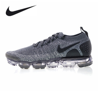 Nike Air VaporMax Flyknit 2.0 W Men's Running Shoes Dark Gray Shock Absorbing Breathable Lightweight Wear resistant 942843 002