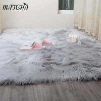 Caramel White Faux Sheepskin Rug Long Faux Fur Blanket Decorative Blankets Bed Carpet Floor Mat Rugs and Carpets For Living room