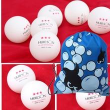 Huieson 100 шт./упак. 3 звезды настольный теннисный мяч 40+ качество материал 2,8 г тренировочные мячи для пинг-понга с мешком для упаковки на шнурке