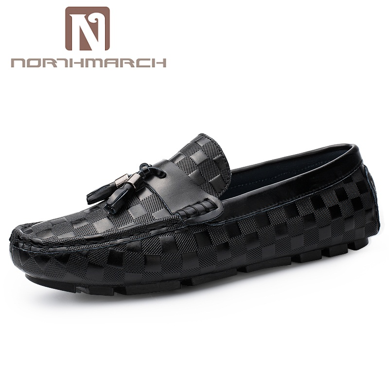 NORTHMARCH Men's Genuine Leather Shoes Tassel Breathable Men Wedding Shoes Men's Flats Men Casual Shoes Zapatos Vestir Hombre new fashion men luxury brand casual shoes men non slip breathable genuine leather casual shoes ankle boots zapatos hombre 3s88