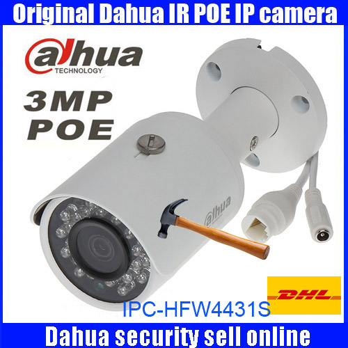 Original Dahua DH-IPC-HFW4431S replace IPC-HFW4421S 4MP Full HD WDR Network Small IR Bullet Camera CCTV POE IPC-HFW4431S dahua dh ipc hfw4421sp 0360b