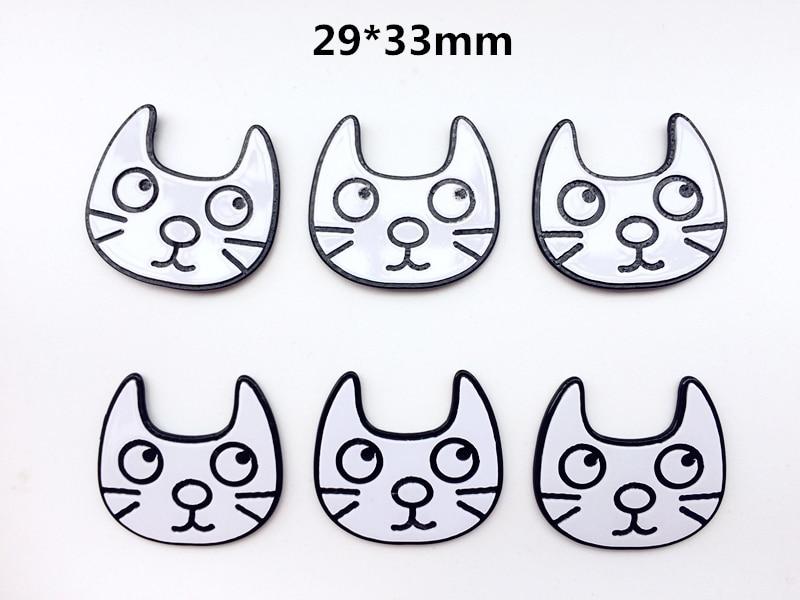 10pcs Planar Resin flat back cartoon planar resin The cat Cabochons for Kids diy decoration crafts accessories