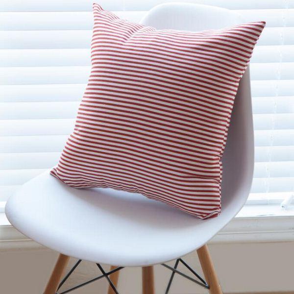 Bande Coton Housse de Coussin Simple Carré Décoratif Canapé De Voiture-couvre Taie d'oreiller almofada cojines coussin BZT-41