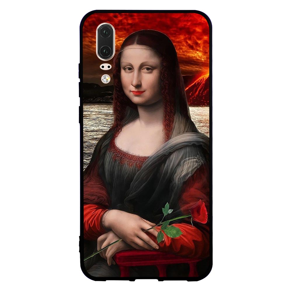Slim Mona Lisa Phone Cover for Huawei P Smart Case P8 Lite P20 Pro P10 P9 Mini Mate 10 20 Soft in Fitted Cases from Cellphones Telecommunications