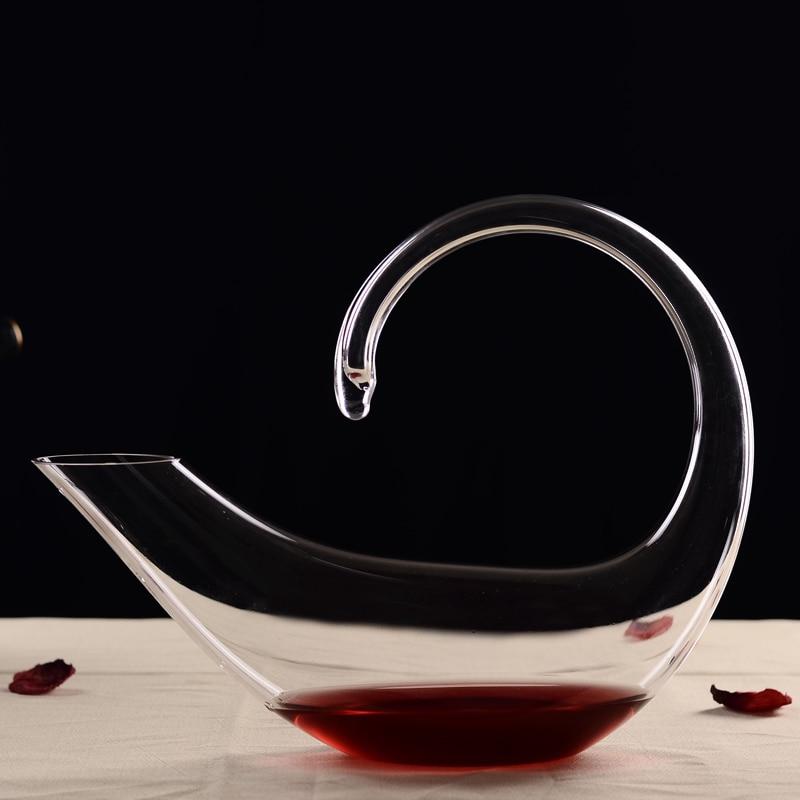 Crystal Glass Scorpion Shape Grape Wine Decanter Holder Aerator Carafe Barware Decoration Glassware Vessel Craft Accessories