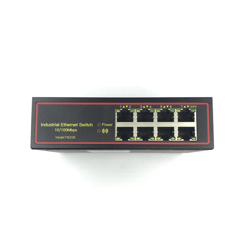 5V-58V 8 port 10/100M DIN-Rail Unmanaged industrial Ethernet Switches