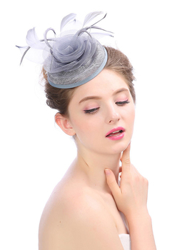 New Style Handmade Feather Mesh Bridal Hat Headdress Elegant Party Hat for Lady Wedding/Party Decoration
