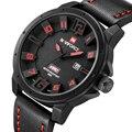 NAVIFORCE Militar Relógios Homens de Luxo Da Marca de Quartzo Analógico Relógio de Couro Rosto 3D Homem Esportes Relógios Relógio Do Exército Relogios Masculino