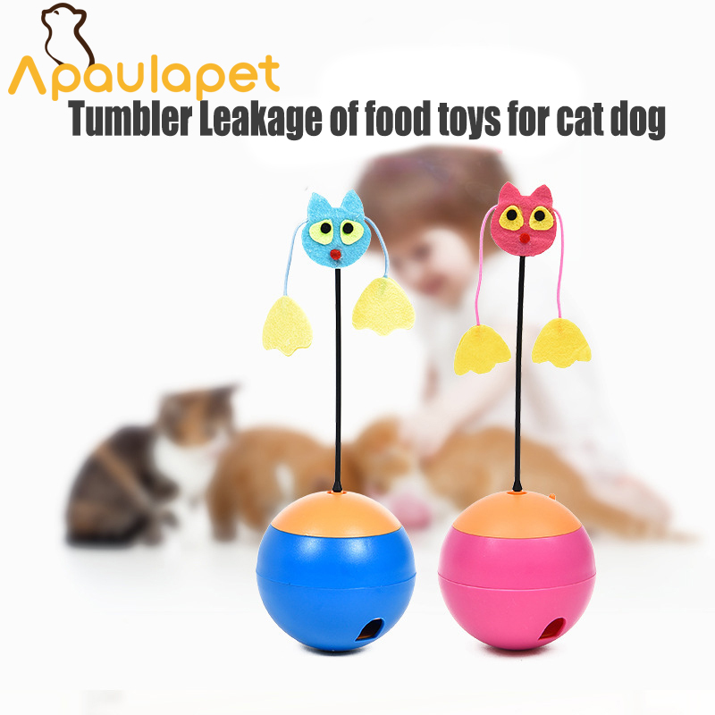 Apaulapet Electric Tumbler Toys Multi functional Laser Pet Cat Toys Tumber Leakage Food Toys Ball Toy Products
