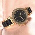 Relógios de Diamantes de luxo Mulheres Marca de Moda Pulseira de Aço Inoxidável Relógio de Pulso Das Mulheres Relógio De Quartzo Projeto Relógio Reloj