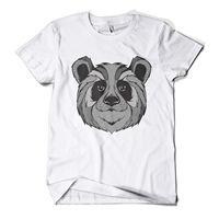 Graphic Panda Printed T Shirt Hipster Design Urban Fashion Mens Girls Tee Top Men T Shirt