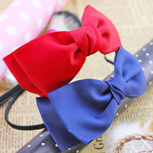 Cloth art bow hair hoop hair accessories, free home delivery