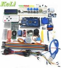 Бесплатная Доставка Мега 2560 R3 стартовый набор Серводвигатель RFID Ультразвуковой начиная реле ЖК-дисплей для Arduino