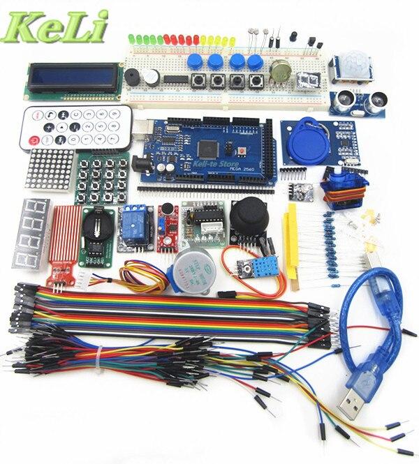 TIEGOULI mega 2560 r3 starter kit motor servo RFID Ultrasonic Ranging relay LCD