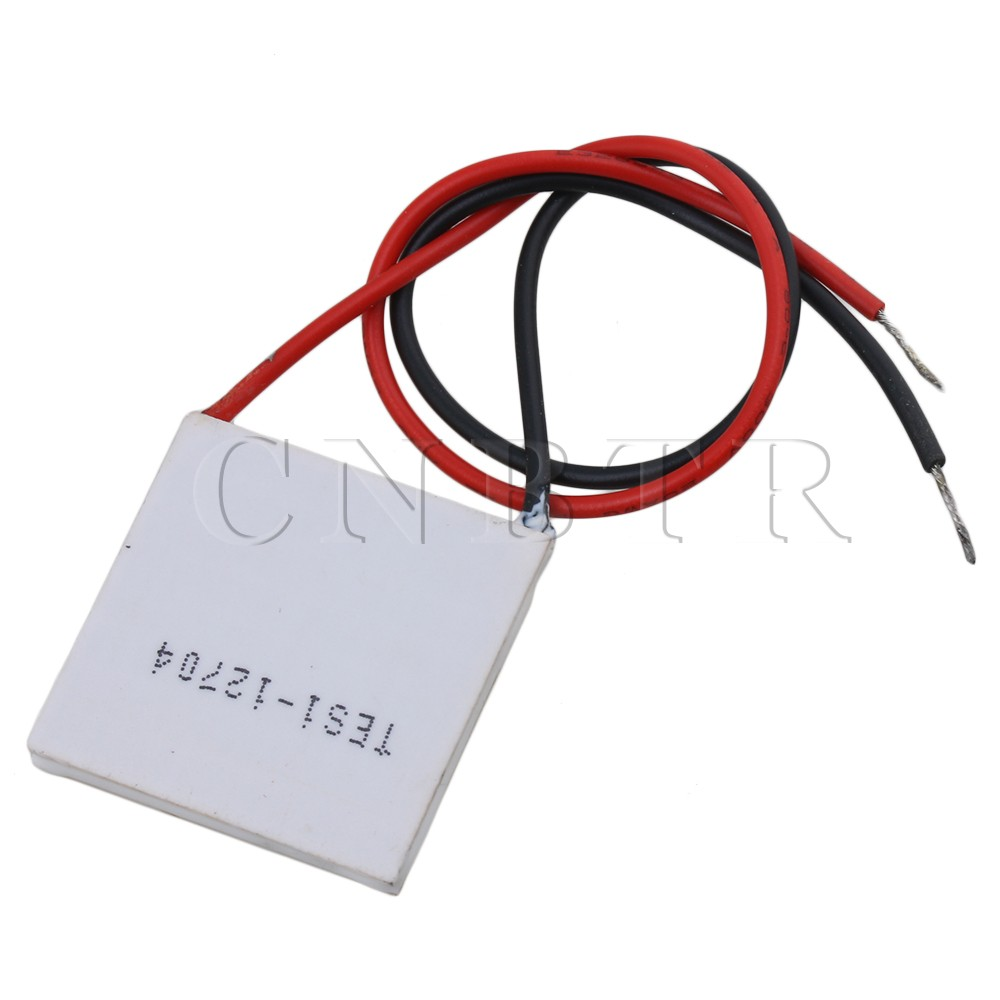 CNBTR TES1-12704 DC12V 3.2A 38W White DIY Kit Thermoelectric Peltier Cooler Refrigeration Cooling System Heat Sink Conduction freeshipping tes1 12704 12704 4a 30 30mm thermoelectric cooler peltier module