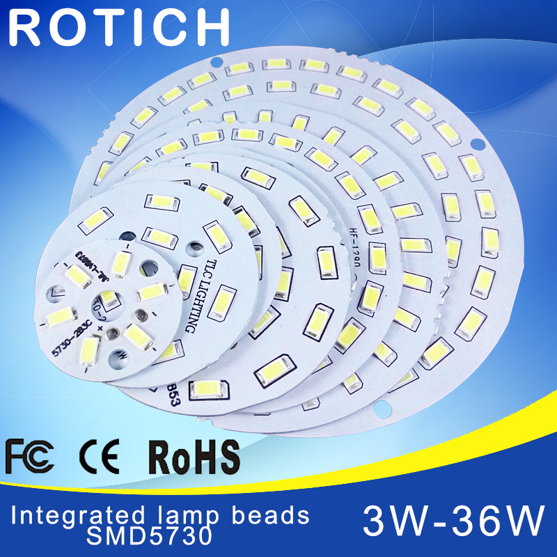 2pcs Led Pcb SMD5730 3w 7w 14w 12w 18w 24w 36w Integrated Pcb Transformation Board White/ Warm White Light Source For LED Bulb