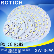 2pcs led pcb SMD5730 3w 7w 14w 12w 18w 24w 36w integrated Transformation board White/ Warm White Light Source For LED Bulb