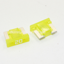 10pcs Micro Short Low profile Mini blade 20A amp APS/ATT fuse for Honda Toyota Lexus(China)