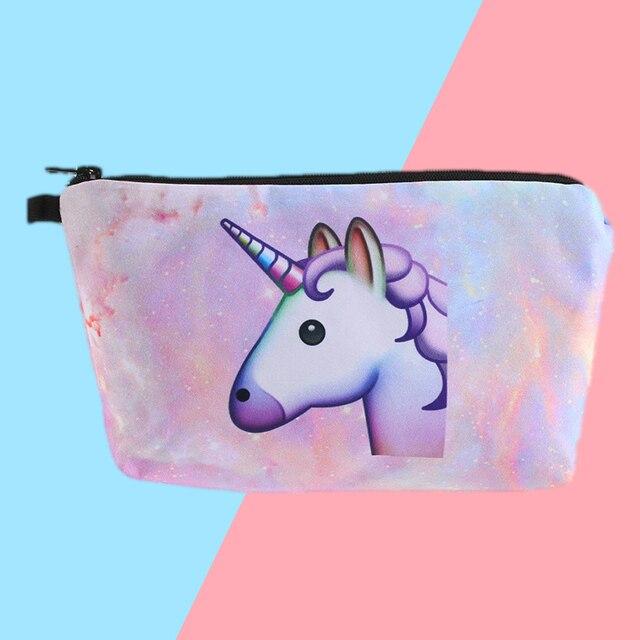 1 Pcs Unicorn Makeup Bag Women Girls Eyeliner Face Eyebrow Bag Idea