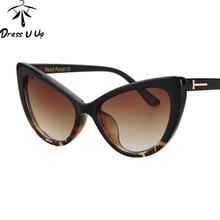 Dressuup Новый Cat Eye Солнцезащитные очки для женщин Для женщин Брендовая Дизайнерская обувь Винтаж большой Рамки Роскошные Защита от солнца Очки Óculos де золь
