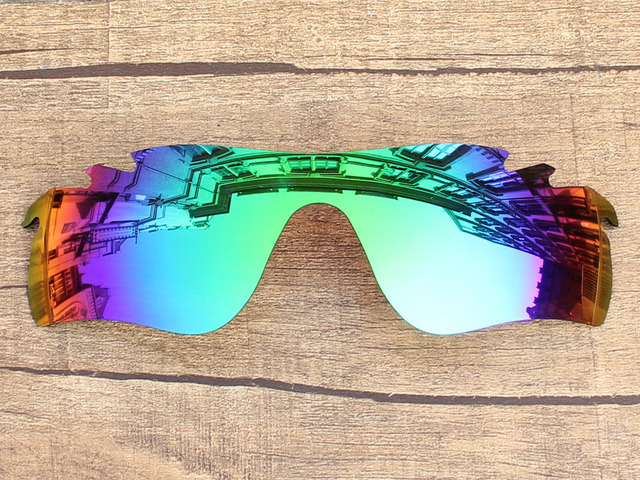 90c75bf44d93 Emerald Green Mirror Polarized Replacement Lenses For RadarLock Path Vented Sunglasses  Frame 100% UVA &