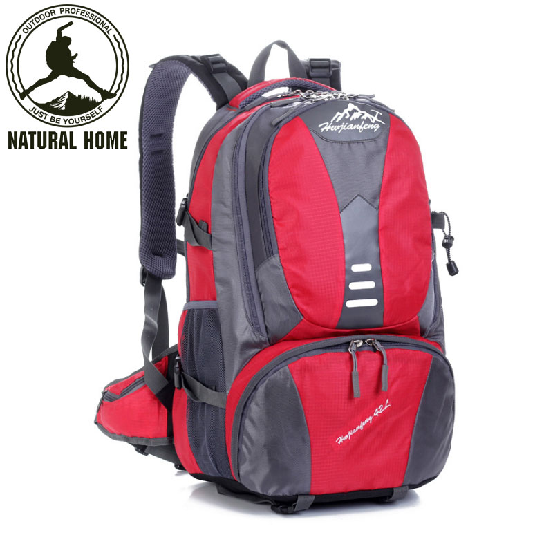 ФОТО NaturalHome Brand Travel Trip Bags Rucksack Men's Women's Outdoor Camping Hiking Backpacks Bag Quality Sport Backpack Bags