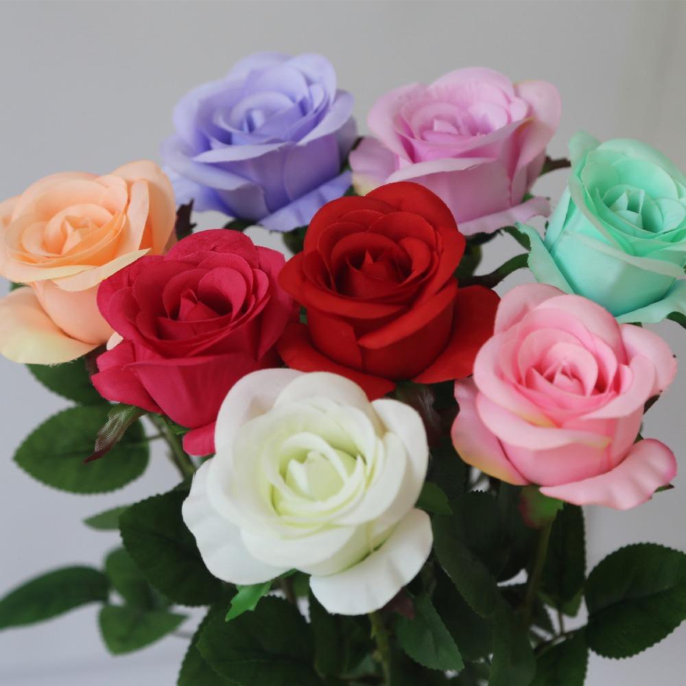 12pcs Lot Rose Silk Flower Arrangement