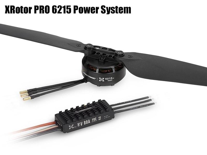 Hobbywing Combo XRotor PRO 6215 180KV 2388 Propeller 80A HV FOC V4 ESC RTF CCW/CW Propulsion Power System für Landwirtschaft U