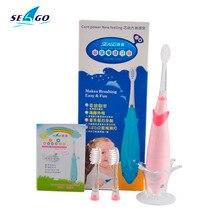 Электрическая Зубная Щетка с музыкой+детская зубная щётка +Мультфильм +Дельфин+ для детей+щетка акустической вибрации + 3 Головки SG-621+удобно и безопасно+высокое качество+бесплатная доставка + массаж десен