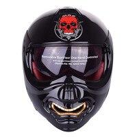New Monster Face Modular Motorcycle Helmet Full Face Punk Motobike Motocicleta Cacapete Casco Casque Kask Moto