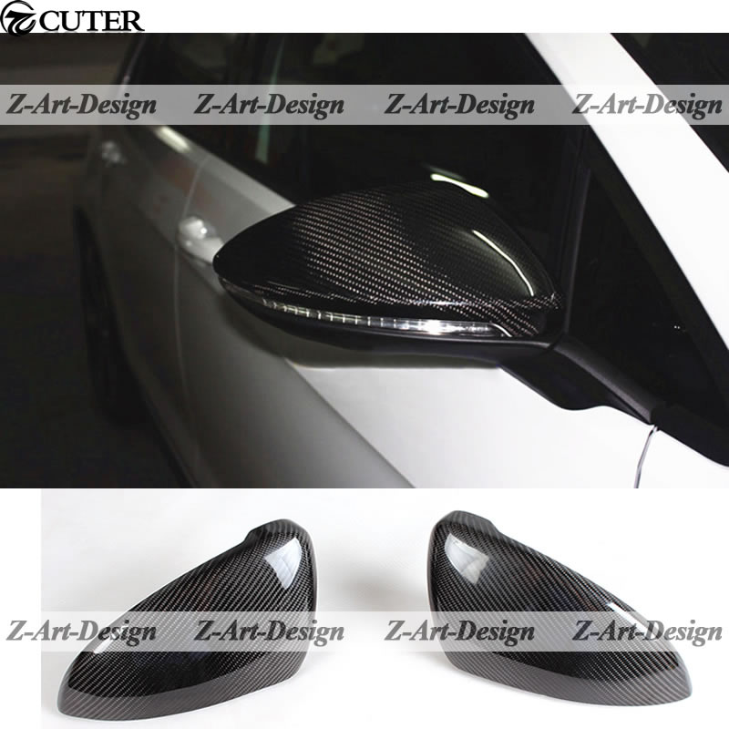 Golf 7 Carbon Fiber Mirror Cover Caps for VW Volkswagen Golf 7 Rear Mirror Cover  Free shipping carbon fiber side wing mirror cover caps for volkswagen vw golf mk5 2005 2007